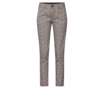 Hose 'Lovely Poly Stripe Check' beige