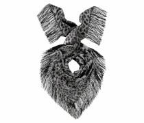 Dreieckstuch grau / schwarz