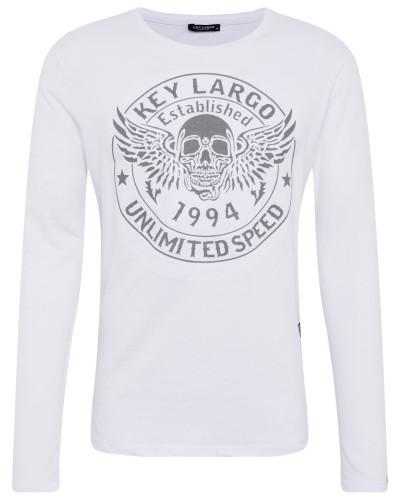 Langarmshirt 'mls Danger round' weiß