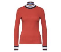 Shirt hellblau / orange / weiß