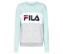 Sweatshirt graumeliert / mint / weiß