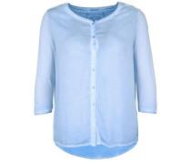 Bluse Button pastellblau