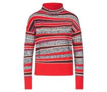 Pullover 'dakar' grau / rot