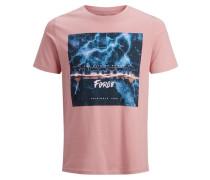 T-Shirt mischfarben / altrosa