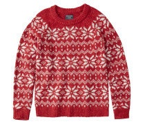 Pullover 'snowflake Pattern Crew'