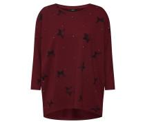 Sweatshirt 'rene Star 3/4 O-Neck Swt' braun