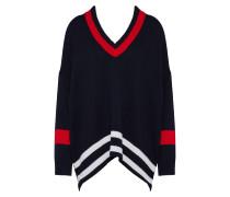 Pullover nachtblau / rot / weiß