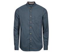 Hemd 'michael' himmelblau / schwarz