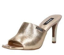Pantolette 'bronx' gold