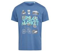 T Shirt petrol / mischfarben