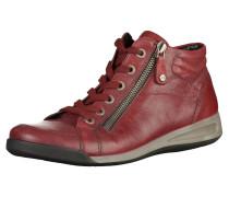 Sneaker grau / karminrot