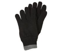 Strickhandschuhe grau / schwarz