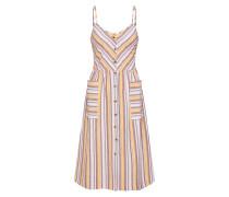 Sommerkleid gelb / rosa / weiß