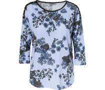 Shirt blau / hellblau / schwarz