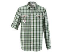 Trachtenhemd grün / schwarz / weiß