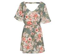 Kleid 'fine Flutter' khaki / rosa