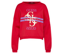 Sweatshirt 'G Logo Fleece' gold / lila / rot
