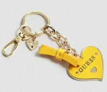 Schlüsselanhänger 'Charm Herz' gelb / gold