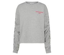 Sweatshirt mit Stickerei graumeliert