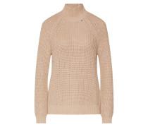 Pullover 'shaker Tneck' beige