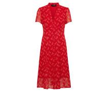 Kleid in Midilänge kirschrot