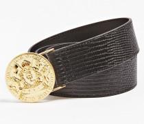 Gürtel 'Atlas Luxe' gold / schwarz