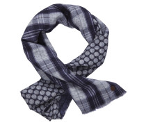 Schal dunkelblau / grau