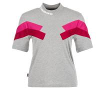 'Chevron' T-Shirt grau / pink