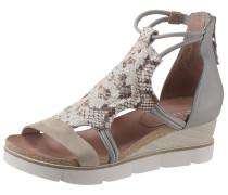 Sandalette hellgrau / beige