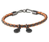 Armband 'Asanty' basaltgrau / orange