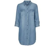 Shirt-Kleid blau