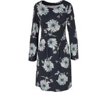 Kleid hellblau / anthrazit / weiß