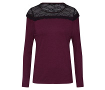 Shirt 'onlMOSTER L/S Lace TOP Jrs' weinrot