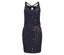 Jerseykleid aqua / rosa / schwarz / weiß