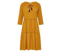 Kleid 'djerba Pompom' goldgelb
