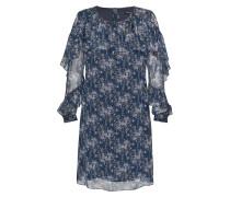 Kleid Amali dunkelblau print