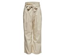 Paperwaist Hose beige