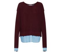 Pullover blue denim / merlot