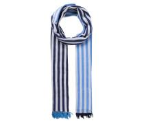 Schal mit Streifen blau / navy / weiß