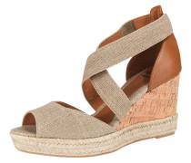 Sandaletten 'Alicia-Lc' beige / cognac
