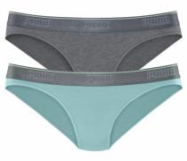 Slips 'Cotton Modal Stretch' grau / mint