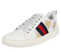 Sneaker navy / gold / rot / weiß