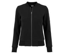 Ladies Sweat Bomber Jacket schwarz