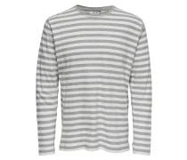 Sweatshirt graumeliert / naturweiß
