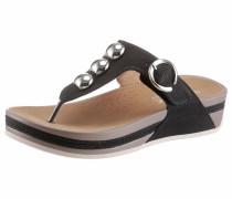 Sandale taupe / schwarz