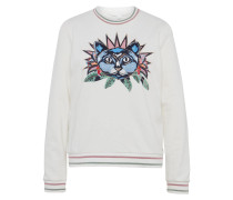 Sweatshirt hellblau / rosa / weiß