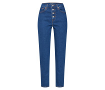Jeans 'exposed Button MOM Jean' blue denim