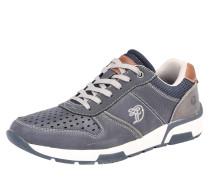 Sneaker mit Ziernähten taubenblau