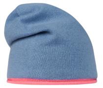 Mütze blau / neonpink