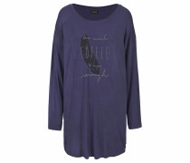 Nachthemd mit Fledermausärmeln nachtblau